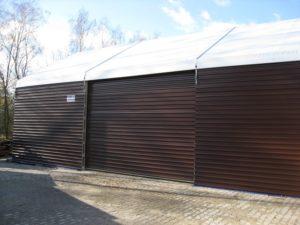 Namiot halowy z otwieraną ścianką boczną