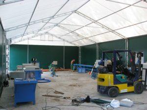 Duże i wysokie hale namiotowe