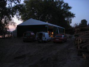 Różnego rodzaju hale namiotowe
