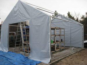 Konstrukcja stalowa hali namiotowej