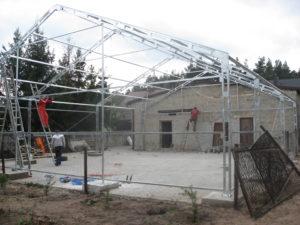 Projekt hali namiotowej