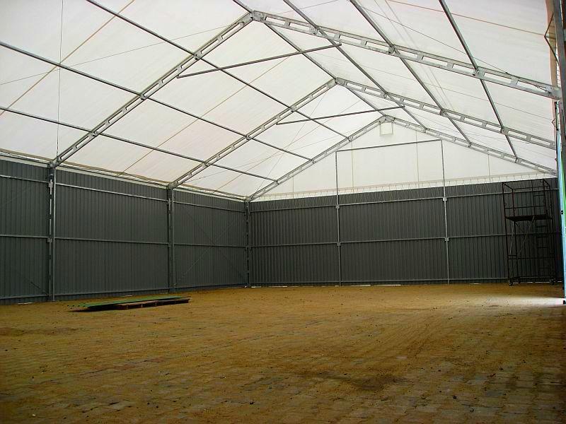 Hale namiotowe, lekkie konstrukcje stalowe