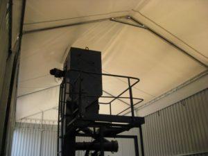 Lekkie konstrukcje zwane są halami namiotowymi