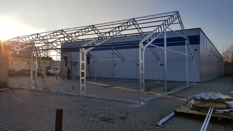 Namiot magazynowy, solidna rama konstrukcyjna