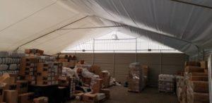 Namiot magazynowy, biały Katowice