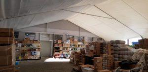 Przestrzenny namiot magazynowy w Katowicach